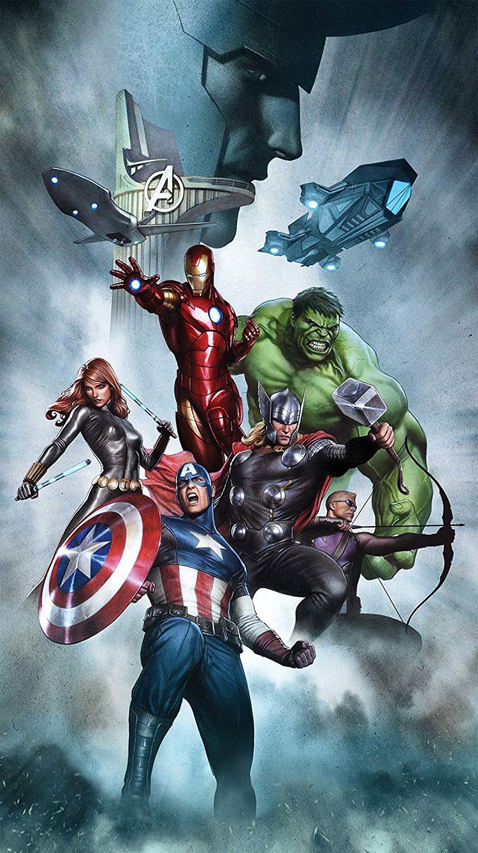 Modello di tenda per cameretta degli Avengers n.02