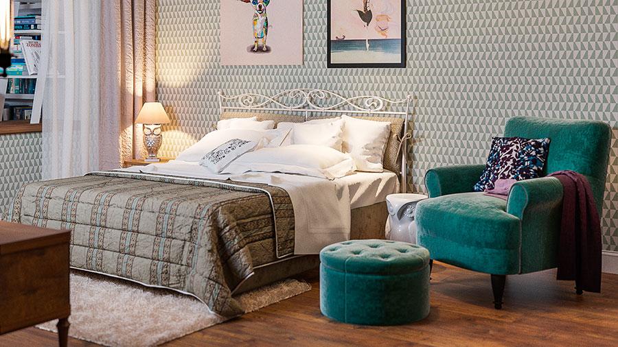 Idee per arredare una camera da letto vintage n.02