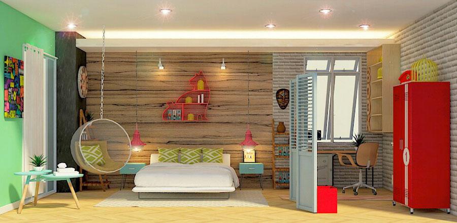 Idee per arredare una camera da letto vintage n.03
