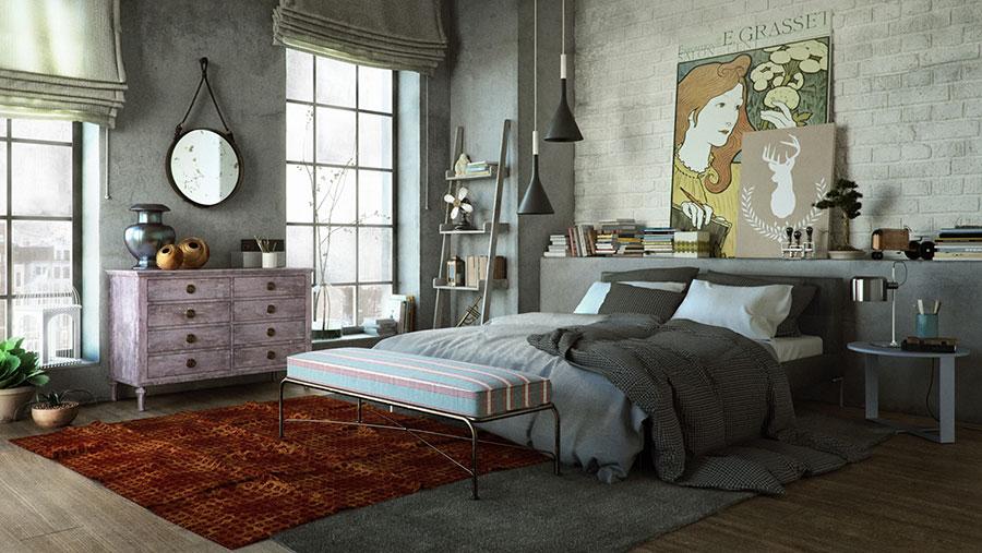 Idee per arredare una camera da letto vintage n.04