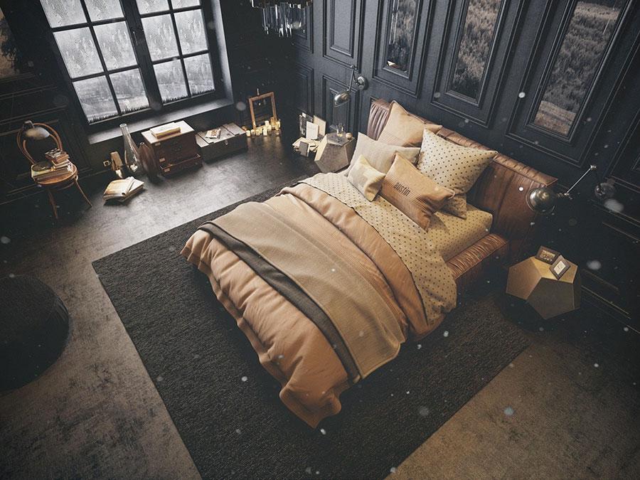 Idee per arredare una camera da letto vintage n.11