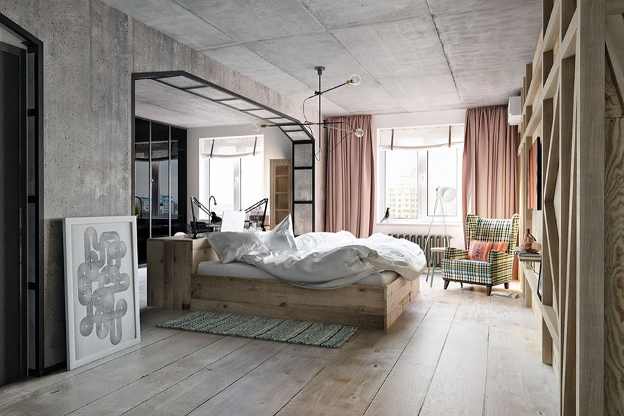 Idee per arredare una camera da letto vintage n.20