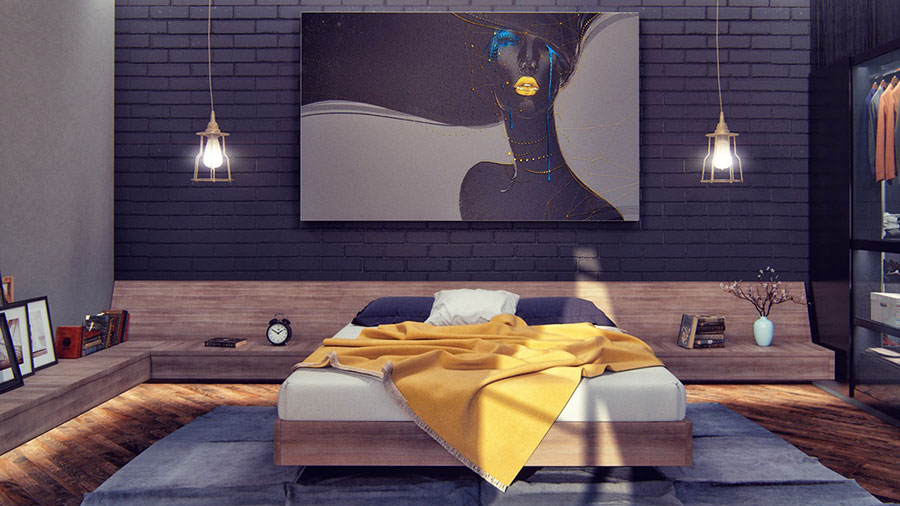 Idee per arredare la camera da letto in maniera originale n.12