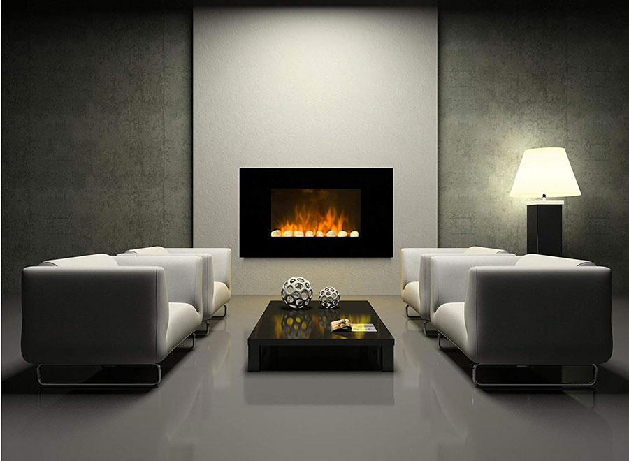 Camino elettrico di Chemin'Arte modello Black Fire