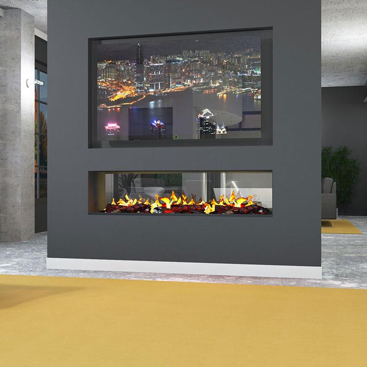 Camino elettrico di Muenkel Design modello Tunnel Fire