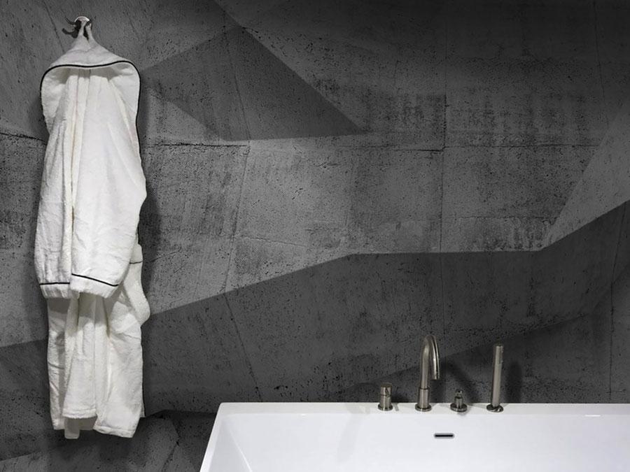 Modello di carta da parati per bagno effetto cemento n.01
