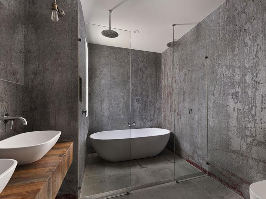 Modello di carta da parati per bagno effetto cemento n.03