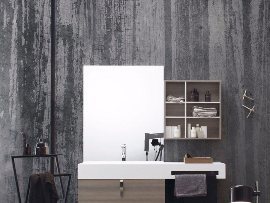 Modello di carta da parati per bagno effetto legno n.04