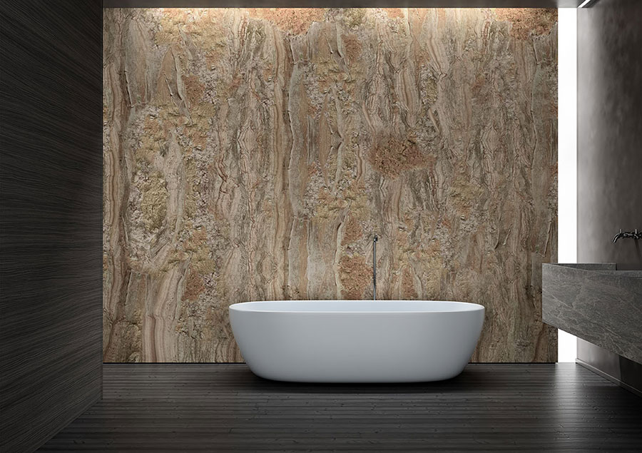 Modello di carta da parati per bagno effetto pietra n.03