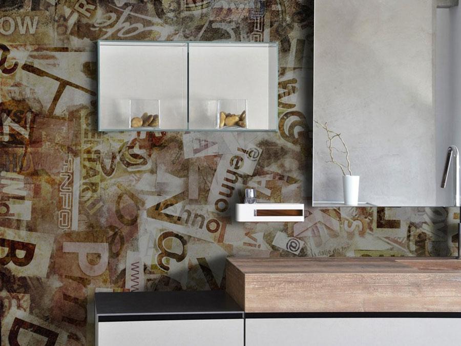 Modello di carta da parati per bagno effetto vintage n.01