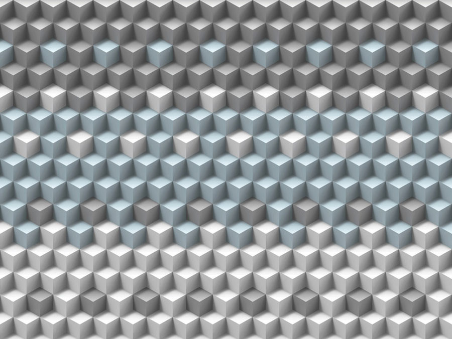 Modello di carta da parati per bagno motivo geometrico n.05