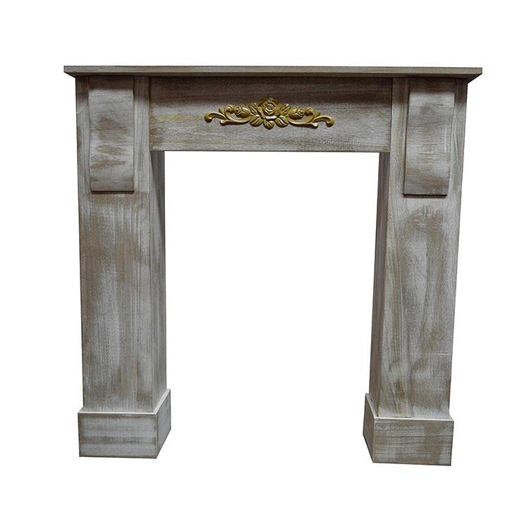 Cornice per finto camino decorativo effetto legno n.06