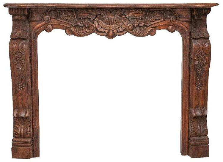 Cornice per finto camino decorativo effetto legno n.10
