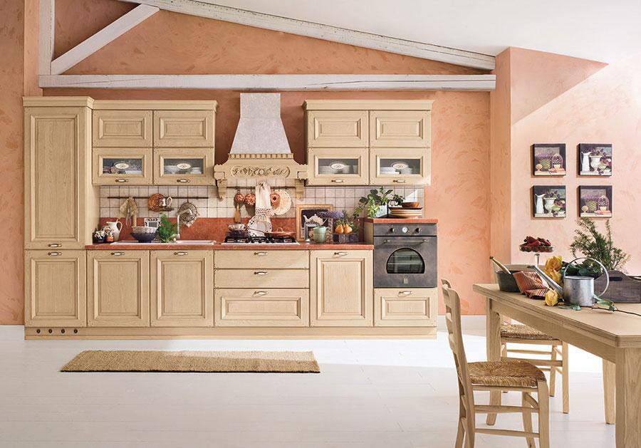 Colore arancione per pareti di cucine classiche n.02
