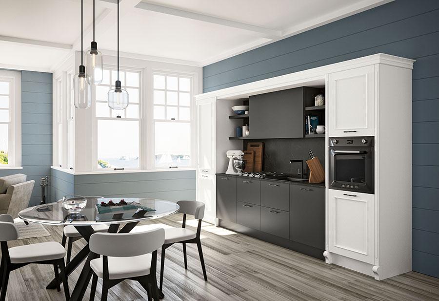 Colore azzurro per pareti di cucine classiche n.01