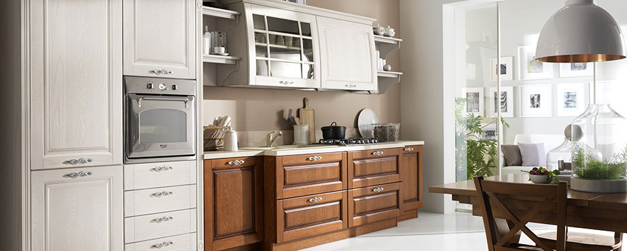 Colore beige per pareti di cucine classiche n.05