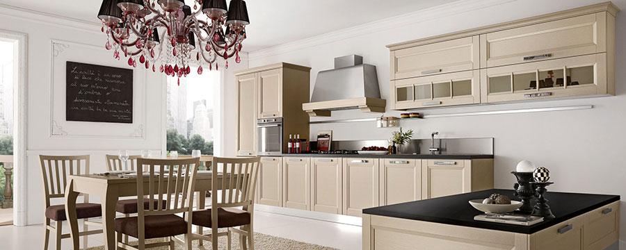 Colore bianco per pareti di cucine classiche n.02