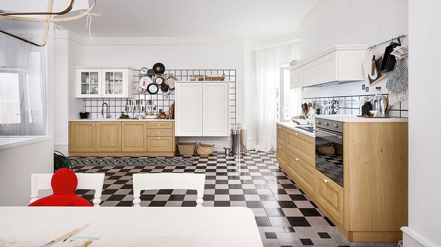 Colore bianco per pareti di cucine classiche n.04