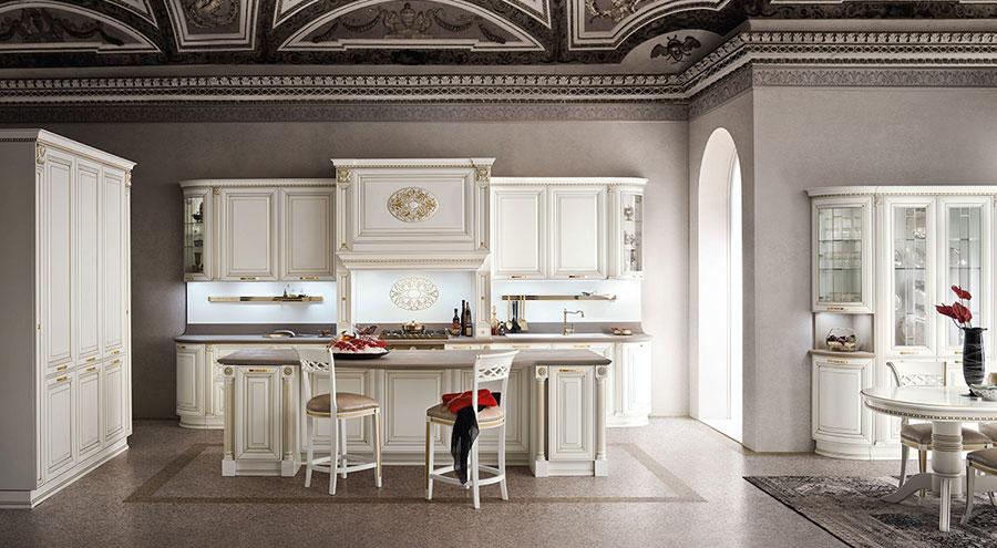 Colore grigio per pareti di cucine classiche n.01