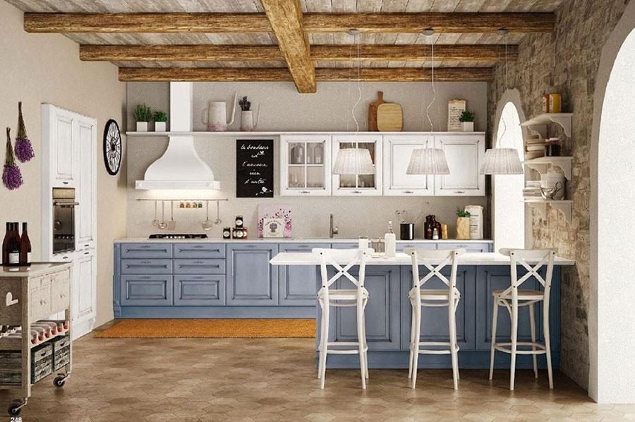 Colore grigio per pareti di cucine classiche n.02
