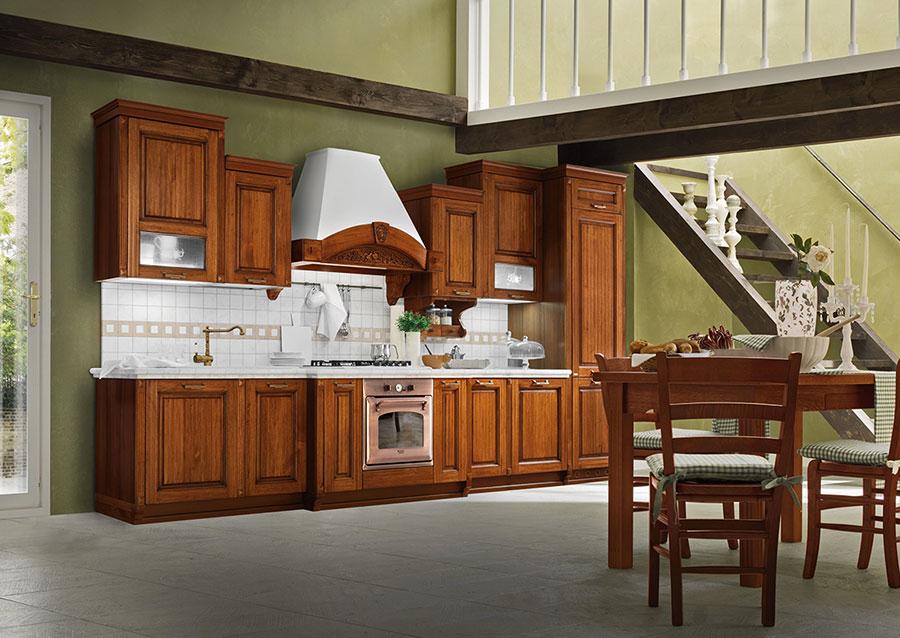 Colore verde per pareti di cucine classiche n.01