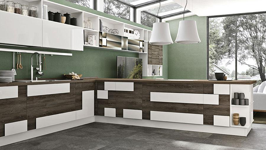 Pareti verdi per cucine moderne 02