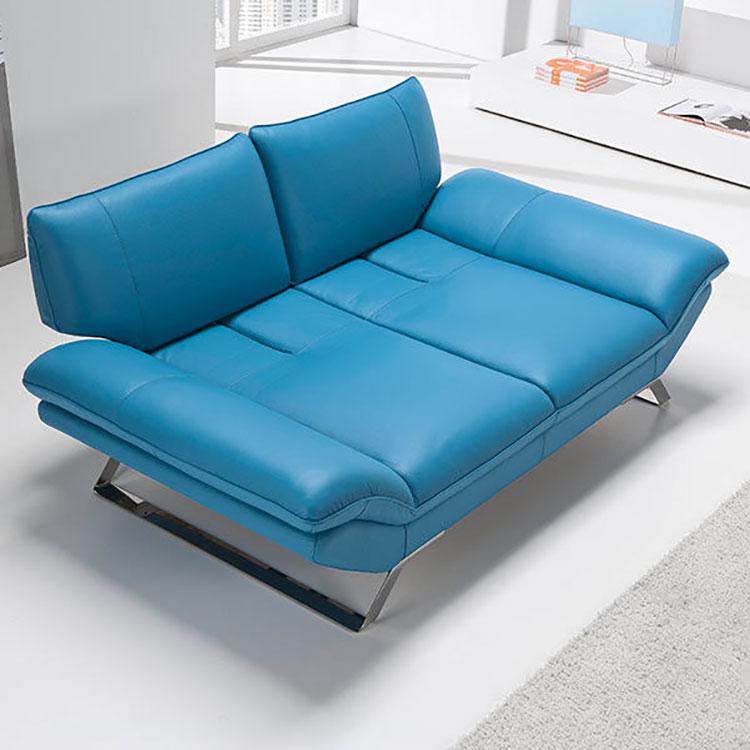 Modello di divano blu in pelle n.07