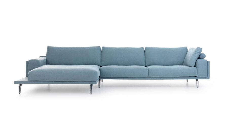 Modello di divano blu in tessuto n.09