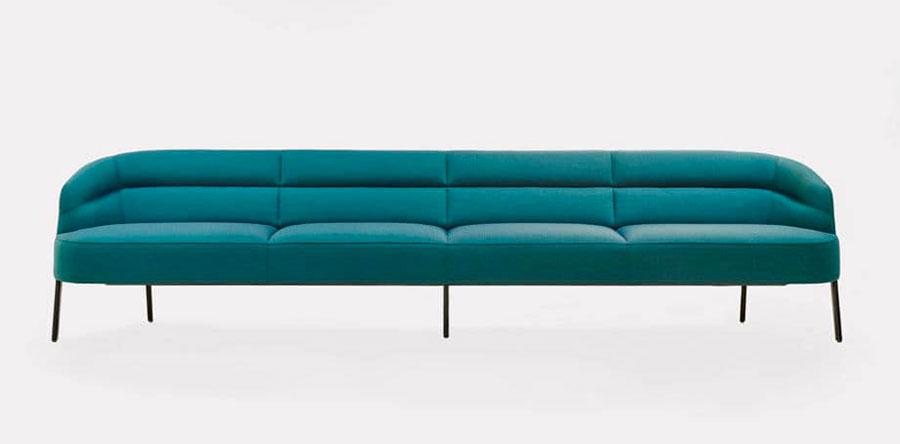 Modello di divano blu in tessuto n.11