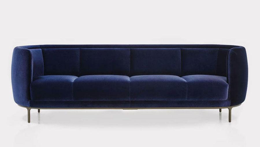 Modello di divano blu in tessuto n.12