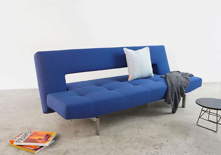 Modello di divano blu in tessuto n.15