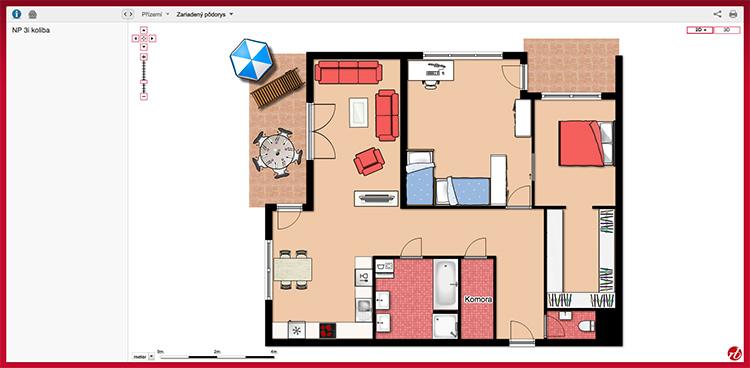 Progetto di interni realizzato con Floor Planner