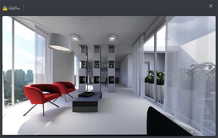 Progetto di interni realizzato con HomeStyler