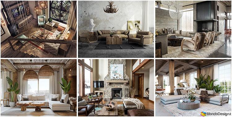 Soggiorno rustico 22 idee per arredare con uno stile for Ingresso soggiorno arredare