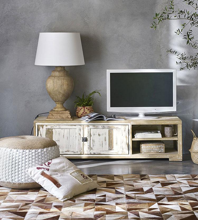 Idee mobili per un soggiorno in stile rustico n.04
