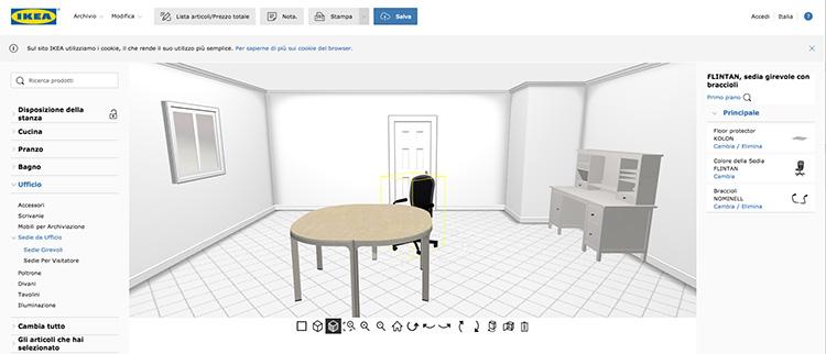 Progetto di interni realizzato con IKEA Home Planner