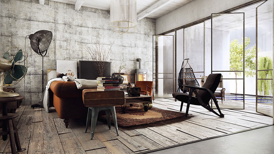Idee per arredare un soggiorno in stile rustico n.03