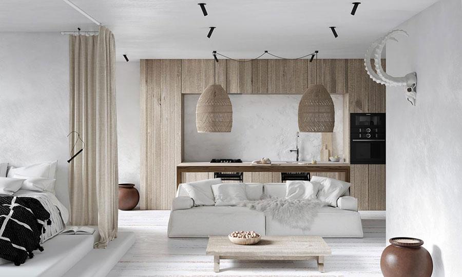 Idee per arredare un soggiorno in stile rustico n.04