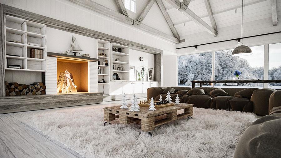 Idee per arredare un soggiorno in stile rustico n.06