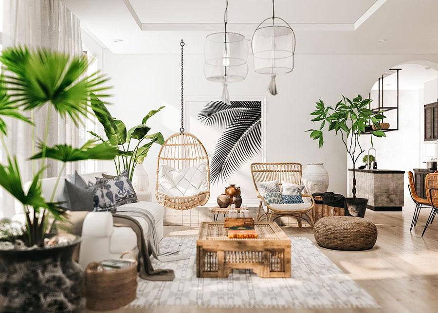 Idee per arredare un soggiorno in stile rustico n.07