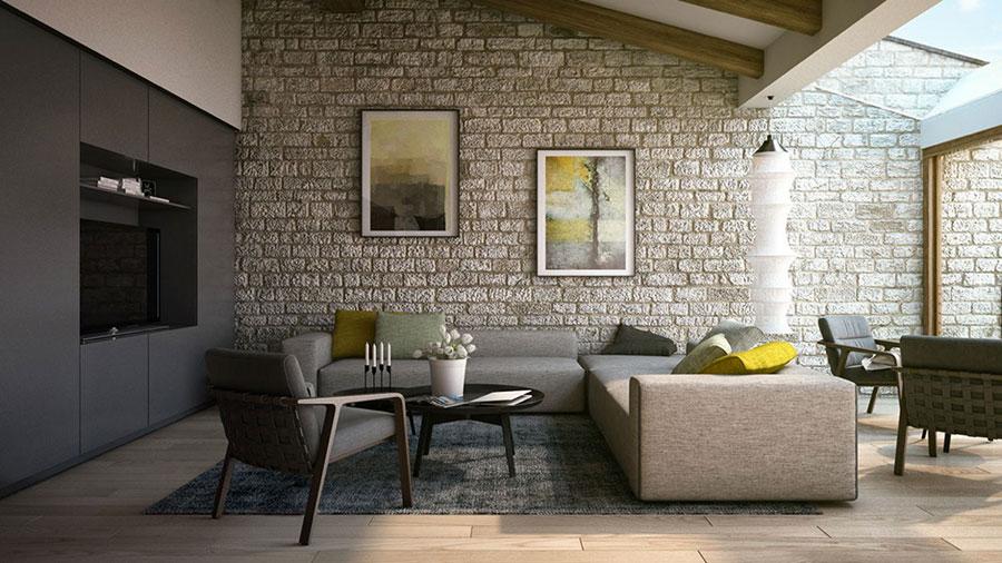 Idee per arredare un soggiorno in stile rustico n.09