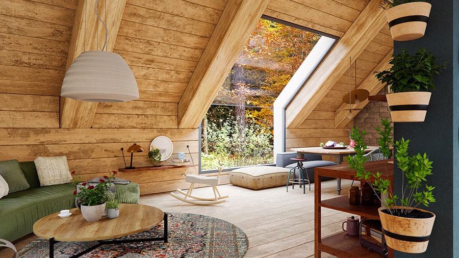 Idee per arredare un soggiorno in stile rustico n.10