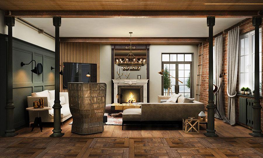 Idee per arredare un soggiorno in stile rustico n.12