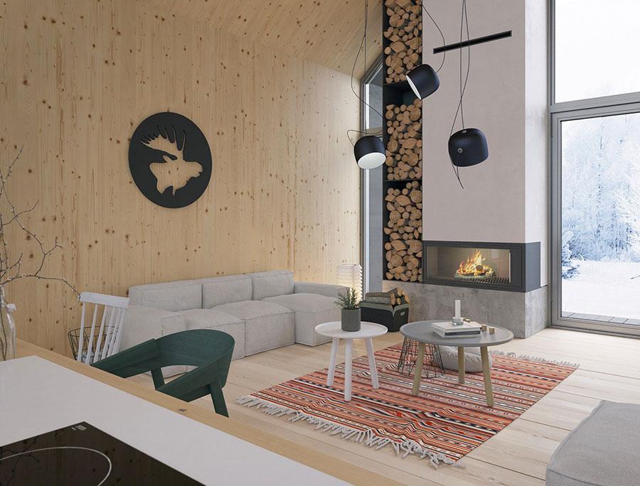 Idee per arredare un soggiorno in stile rustico n.13