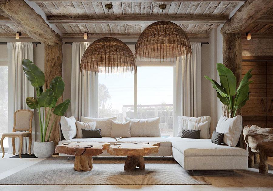 Idee per arredare un soggiorno in stile rustico n.15
