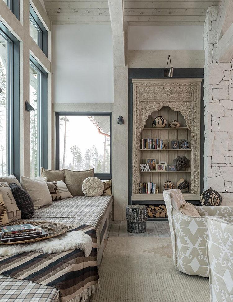 Idee per arredare un soggiorno in stile rustico n.16