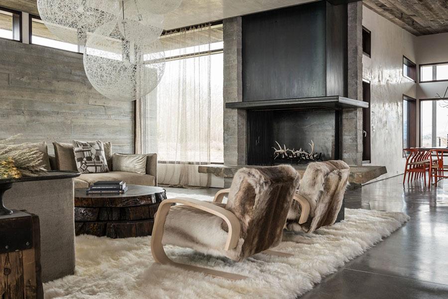 Idee per arredare un soggiorno in stile rustico n.17