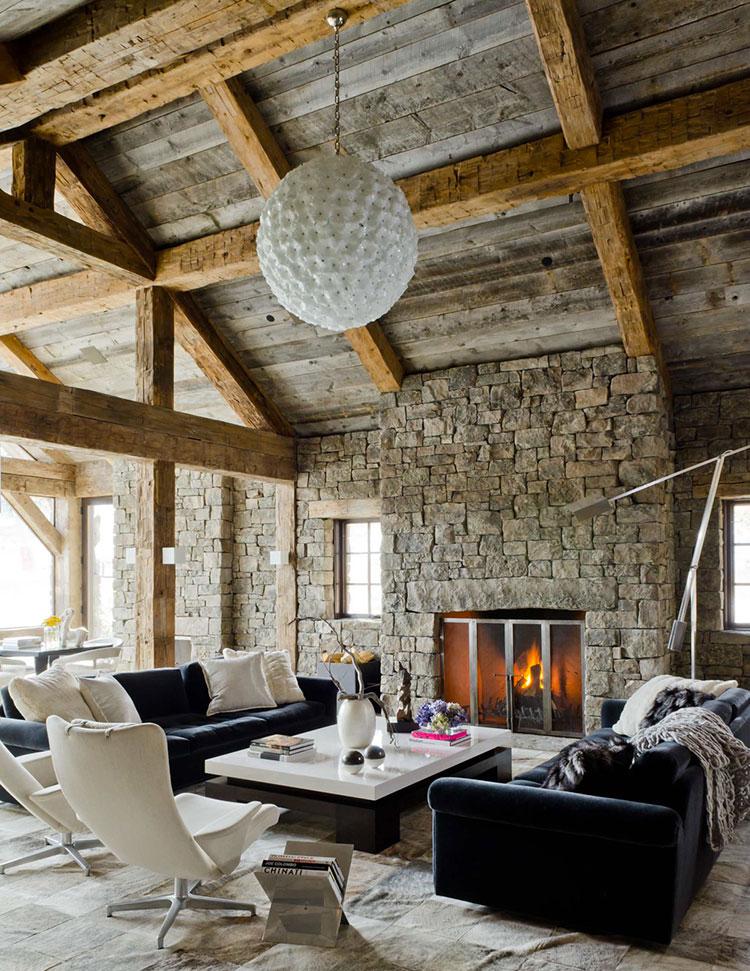 Idee per arredare un soggiorno in stile rustico n.18