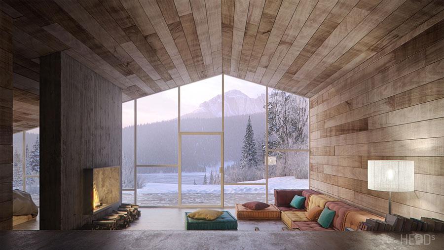 Idee per arredare un soggiorno in stile rustico n.21