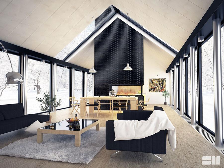 Idee per arredare un soggiorno in stile rustico n.22